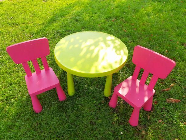 Ikea mammut komplet 2 krzesełka i stolik