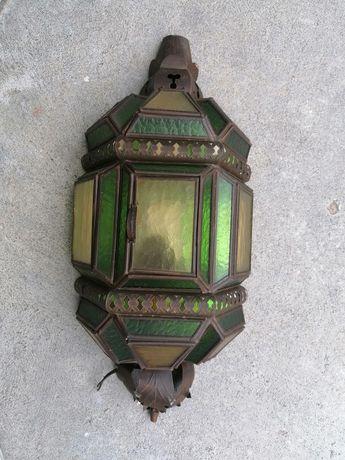 Candeeiro vintage vitrais