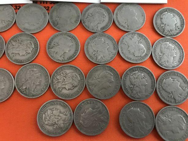 Moedas antigas de 50 centavos de 1928 a 1968
