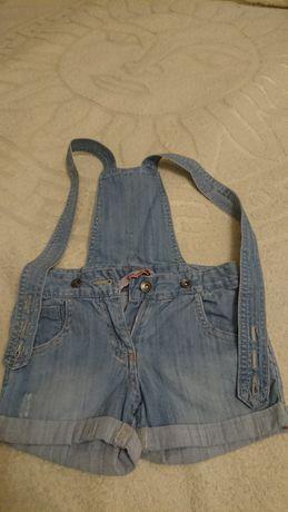 Джинсовый комбинезон шорты,размер 110