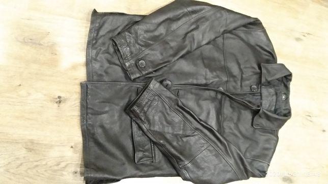Кожаный мужской пиджак.