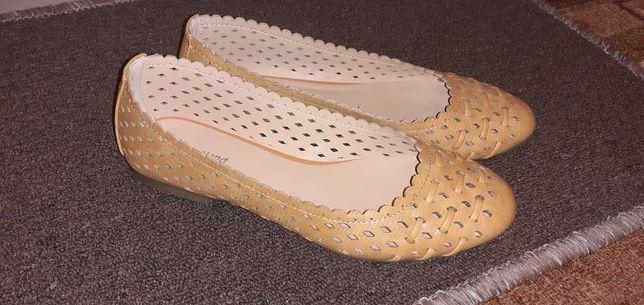 Baleriny damskie Graceland / buty ażurkowe rozm. 37