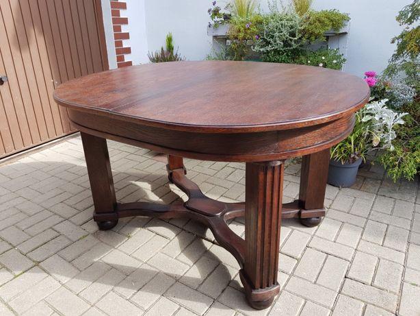 Masywny stół dębowy odnowiony, okazja!!