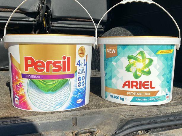 Побутова хімія для прання сипуча у відрах і пакеті
