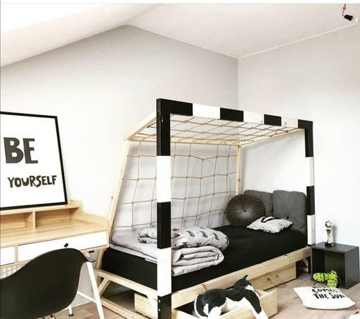 Łóżko domek, IKEA stuva, łóżko bramka