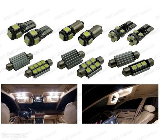 KIT COMPLETO DE 19 LÂMPADAS LED INTERIOR PARA BMW E39 5 SERIE SEDAN 520I 535I 525I 528I 530I 540I M