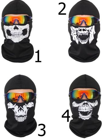 Балаклава маска с черепом / спандекс коттон / баф /подшлемник