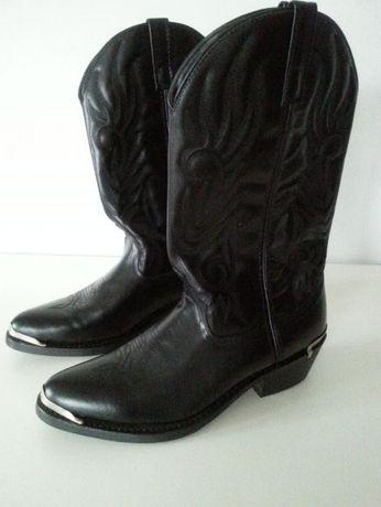 Czarne Kowbojki męskie skórzane Laredo USA rozm. 44