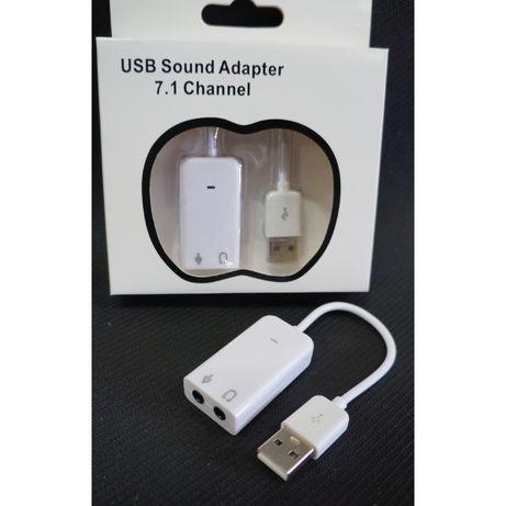 USB Звуковая карта PD560 7.1 Channel Sound для ноутбука, компьютера