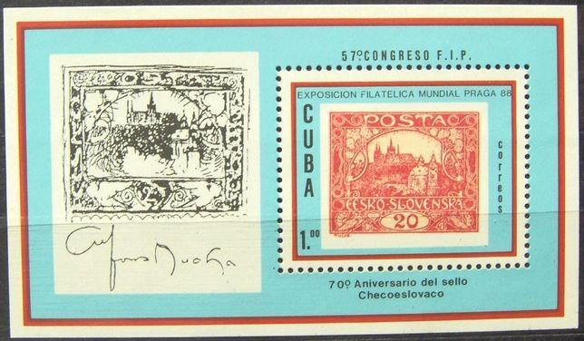 Znaczki Kuba 1988 stan** całe serie