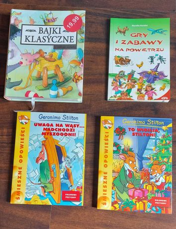książki Bajki klasyczne Gry i zabawy na powietrzu