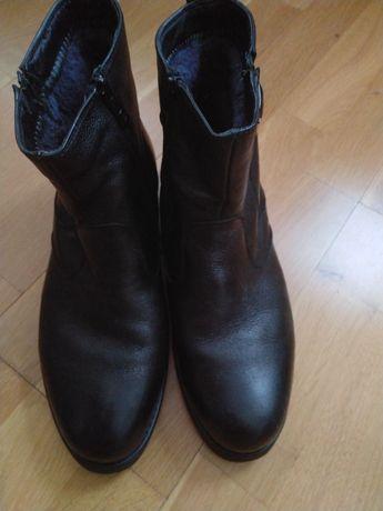 Срочно новые мужские кожаные утепленные сапоги