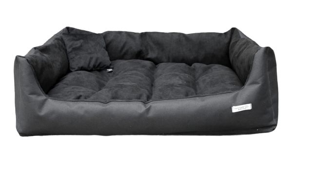 Czarne legowisko 80x60 Kanapa Bokser Samojed Shar Pei Husky Beagle