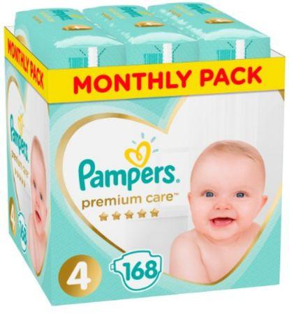 Подгузники Pampers Premium care, 4, (9-14 kg) 168 шт.