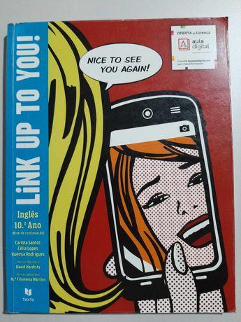 """Manual """"Link Up to You!"""" Inglês 10º ano (com Workbook)"""