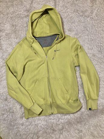 Bluza Nike z kapturem rozpinana rozmiar M żółta seledynowa