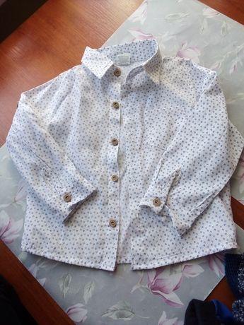 Biała koszula w rozmiarze 92