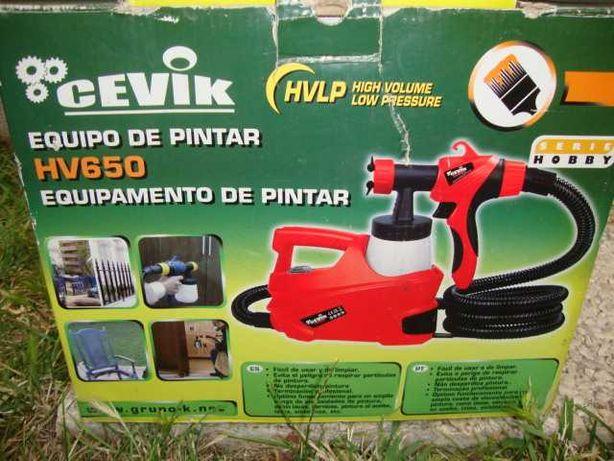 Turbina de pintura à pistola da Cevik HV650 HVLP  (Até 13/07)