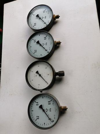 Stare zegary wskaźniki mierniki 4szt