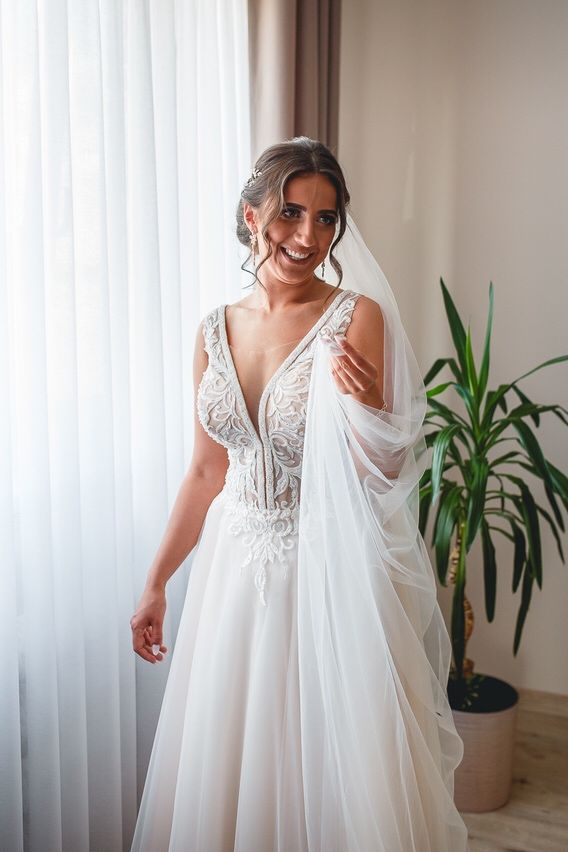 Suknia ślubna _ Sofia_ tiul, ślub wesele