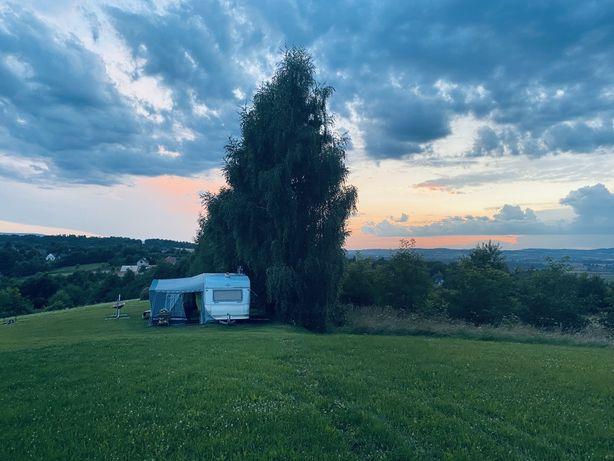 Wynajem przyczepy kampingowej w okolicy Wieliczki, dolina Raby