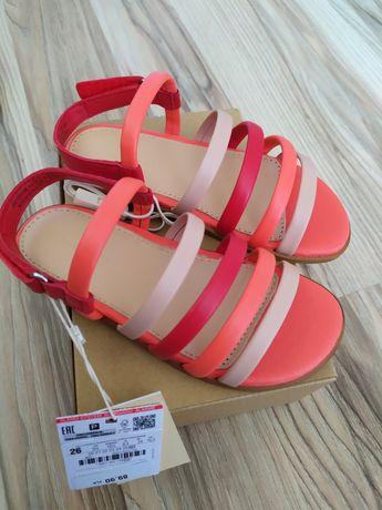 Nowe sandałki sandaly skórzane Zara 26 17cm