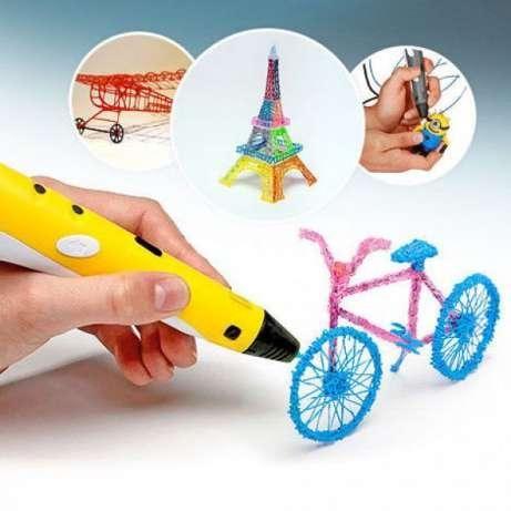 ОРИГИНАЛ 3D ручка с LED Дисплеем 3Д PEN 2 Светом +ПЛАСТИК 9м ПОД!УС