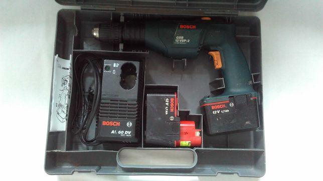 WIERTARKO WKRĘTARKA udar akumulator. Bosch GSB 12 VSP-2 kpl.