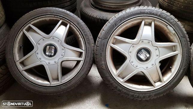 """Jantes Seat Ibiza Cupra 6L 5x100 16"""" Originais Com Pneus"""