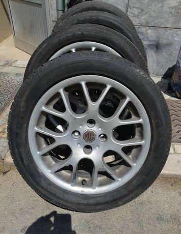 4 Jantes 16 MG ZR + 4 Pneus Novos