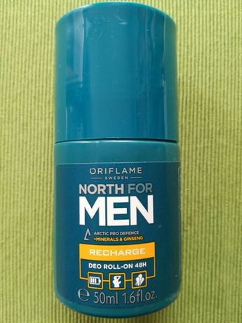 Oriflame antyperspirant dezodorant w kulce North for Man Recharge Nowy