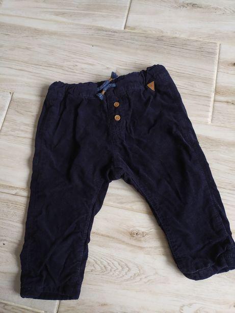 Spodnie spodenki h&m 74