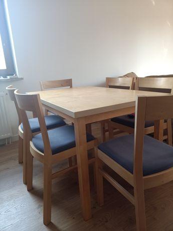 IKEA Stół i 6 krzeseł kolor brzozowy