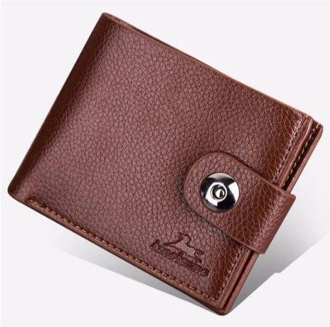 Стильний, коричневий чоловічий гаманець