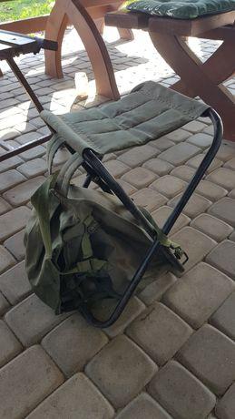 Plecak wędkarski  siedzenie wędkarskie