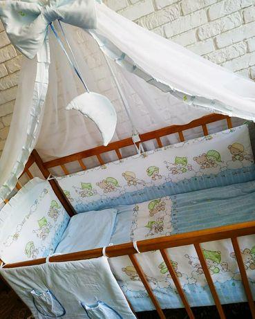 Великий комплект для ліжечка / постельное в кроватку