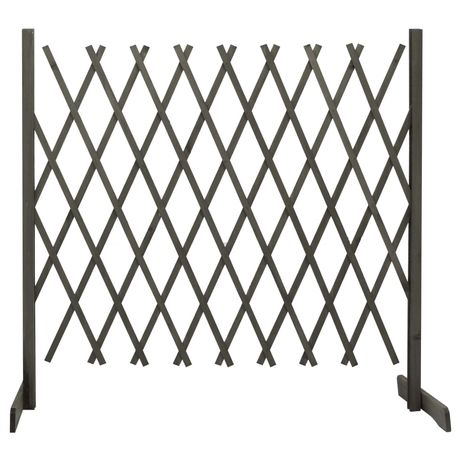 vidaXL Vedação em treliça para jardim 180x100 cm abeto maciço cinzento 314829