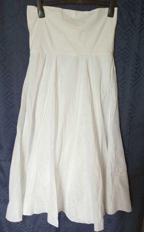 Delikatna biała spódnica ciążowa długa Papaya r 40 UK 12