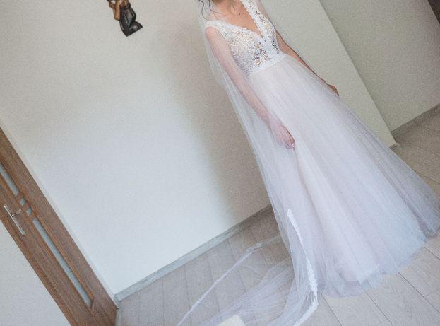 suknia ślubna+długi welon
