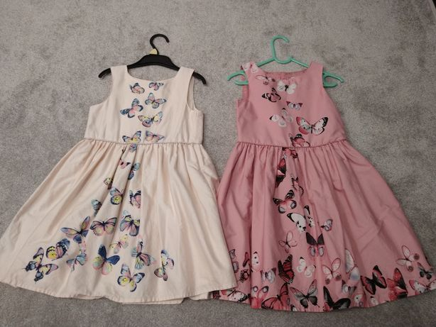 Sukienka motylki motyle bliźniaczki siostry 110 116 Primark wizytowa