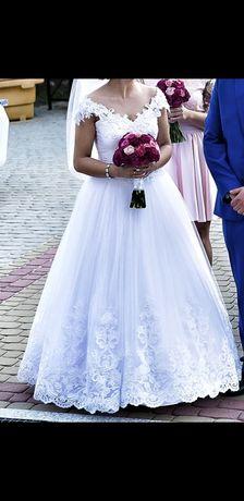 Śliczna, księżniczkowa suknia ślubna, zaproponuj cenę
