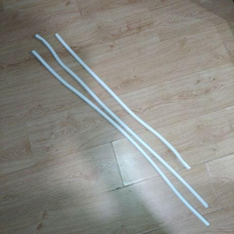 Трубки для водопровода белые 16 мм, всего 3 метра