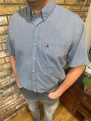 Tommy Hilfiger męska koszula krótki rękaw XXL jak nowa!Duże logo!
