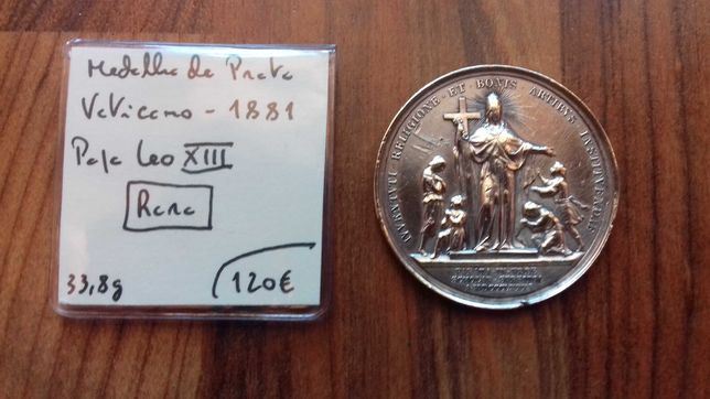 Medalha Vaticano 1881 - Prata, Papa Leo XIII
