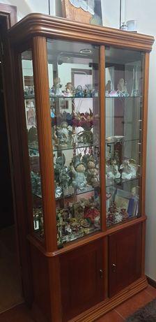 Vendo vitrine como novo em cerejeira.
