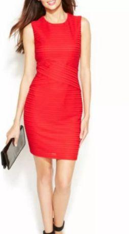 CALVIN KLEIN CRISS-CROSS rozmiar XS-S sukienka mini bandażowa