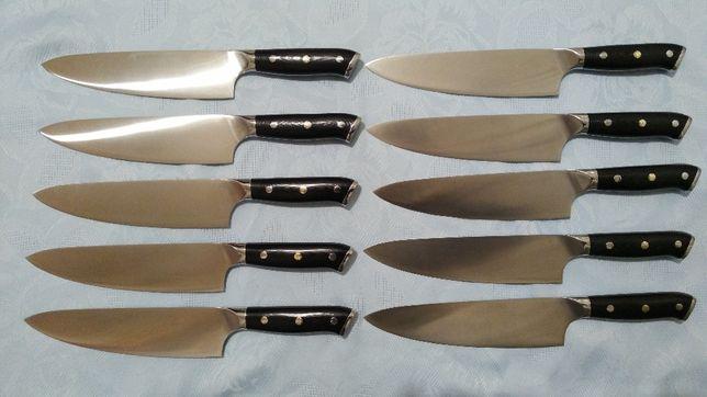 Нож ШЕФ (Германия) сталь 1.4116. 57-59 HRC. 20.5см.лезвие. ручка G10