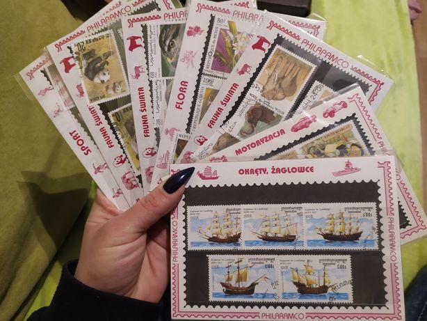 Znaczki pocztowe kolekcjonerskie zestaw 34sztuki