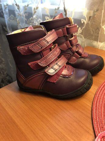 Зимние,кожаные ортопедические ботинки для девочки