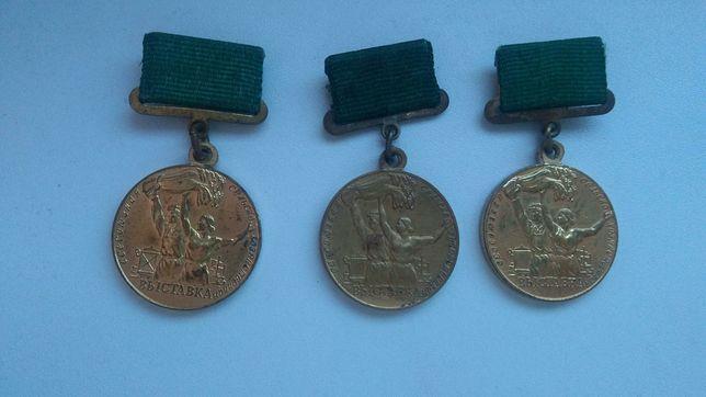 Medal odznaka uczestniku wystawy gospodarki narodowej ZSRR